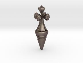 Bottle tap Gaudi in Polished Bronzed Silver Steel