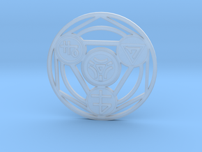 Alchemical Circle of Light - Small Version in Smooth Fine Detail Plastic