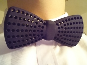 Bow Tie with Radial Holes in Black Strong & Flexible