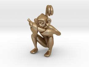 3D-Monkeys 344 in Matte Gold Steel