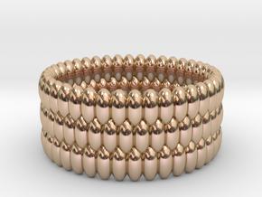 V5 - Ring in 14k Rose Gold Plated