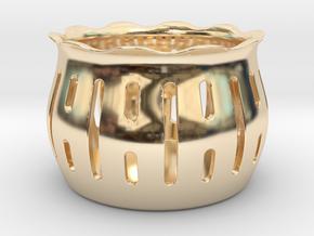 Tea Light Holder Line in 14k Gold Plated Brass