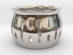 Tea Light Holder Line in Rhodium Plated Brass