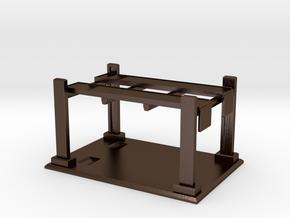 Hotwheels Hoist & Base 1:64 Scale - Display Stand in Polished Bronze Steel
