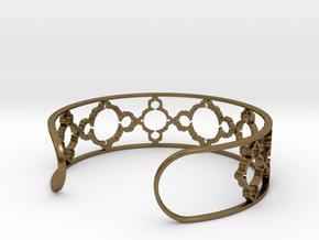 Mandelbrot Due Bracelet 7in (18cm) in Polished Bronze