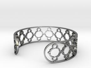 Mandelbrot Uno Bracelet 7in (18cm) in Fine Detail Polished Silver