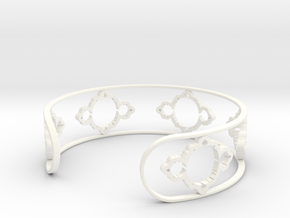 Mandelbrot Light Bracelet 7in (18cm) in White Processed Versatile Plastic