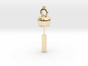 Wind bell in 14K Yellow Gold