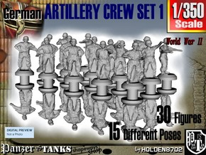 1-350 German Arty Crew Set 1 in Smoothest Fine Detail Plastic