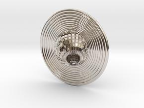 Saturn pendant in Rhodium Plated Brass