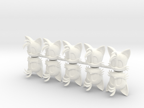 Custom Tails 10 Tree INspired Lego in White Strong & Flexible Polished