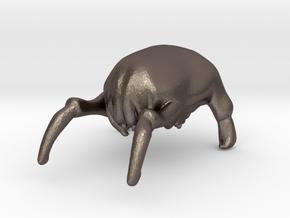 Custom Headcrab Inspired Headpiece for Lego in Polished Bronzed Silver Steel