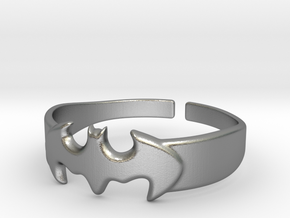 Bat Man Ring One in Natural Silver