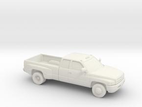 1/87 1994-01 Dodge Ram Extendet Cab Dually in White Natural Versatile Plastic