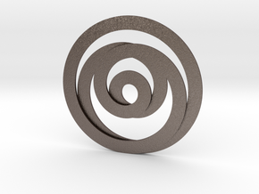 Circumspection in Polished Bronzed Silver Steel