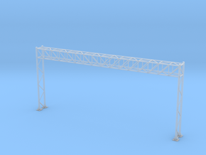 HO Scale Sign Gantry 171mm in Smooth Fine Detail Plastic