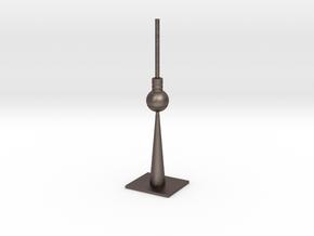 Berlin TV Tower in Polished Bronzed Silver Steel
