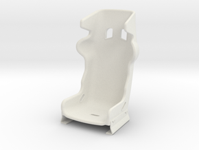 1 : 3.5 Scale racing seat in White Natural Versatile Plastic