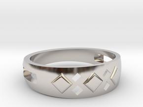 EA-design 06 in Rhodium Plated Brass