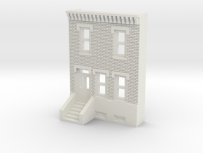 N SCALE ROW HOME FRONT 2S in White Natural Versatile Plastic