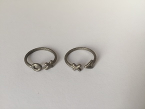 Stackable 2 parts ring (Medium/small) in Polished Nickel Steel
