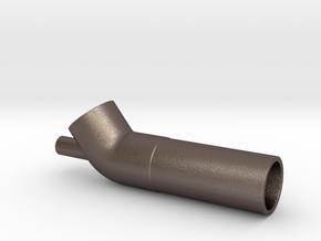 Eductor/Venturi in Polished Bronzed Silver Steel