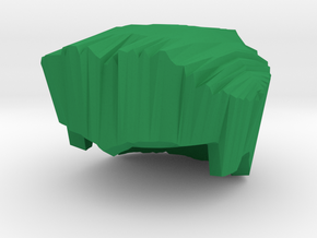 Lego Compatible Hair in Green Processed Versatile Plastic