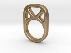 Anillo 4 in Polished Gold Steel