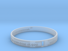 Heart of Bracelet.STL in Smooth Fine Detail Plastic