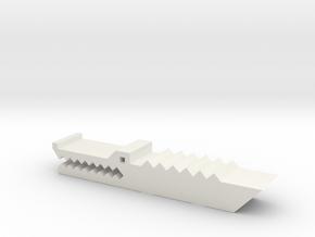 鱷魚夾紙器 Crocodile paper holder in White Natural Versatile Plastic