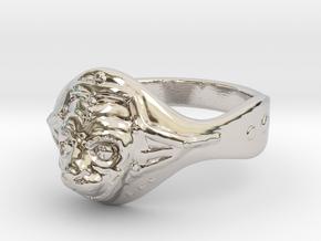Hanuman ring(Japan 10,USA 5.5,Britain K)  in Rhodium Plated Brass