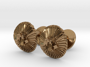 Coccolithus Cufflinks - Science Jewelry in Natural Brass