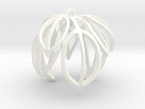 Poinsettia Ornament in White Processed Versatile Plastic
