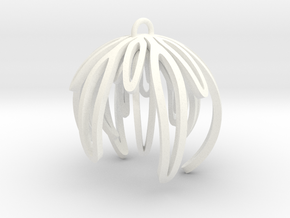 Rosemary Ornament in White Strong & Flexible Polished