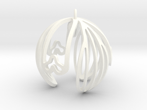 Snowdrop Ornament in White Processed Versatile Plastic