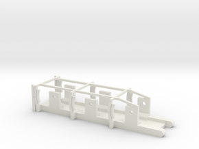 L&YR Tender - EM Chassis in White Strong & Flexible