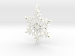 Snowflake in White Processed Versatile Plastic