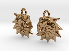 Cristellaria earrings in Polished Brass