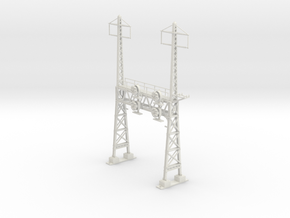 HO Scale PRR W--signal LATTICE 2 Track  W 2 PHASE  in White Natural Versatile Plastic