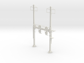 HO Scale PRR W--signal Beam 2 Track  W 2 PHASE R in White Natural Versatile Plastic
