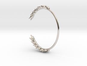 Wheat Bracelet in Rhodium Plated Brass: Medium