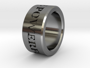 Boga Ring in Polished Silver