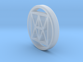 """Universal """"I AM"""" Coin 20mm in Smooth Fine Detail Plastic"""