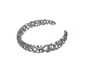 CORALLO Cuff in Polished Silver: Medium