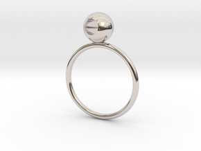 See through rings in Rhodium Plated Brass