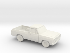 1/87 1972-80 Dodge D-100 in White Natural Versatile Plastic
