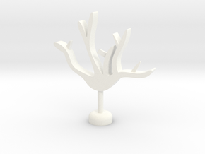 Branch Cup Hanger in White Processed Versatile Plastic