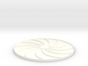 Sun Art Coasters in White Processed Versatile Plastic