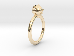 Bear Head Ring in 14k Gold Plated