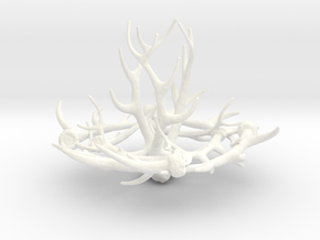 1:12 Antler Chandelier 1 in White Processed Versatile Plastic